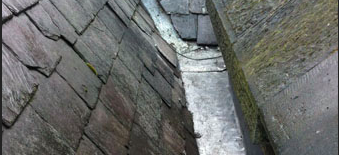 Valleys blocked or lead cracked and leaking ?
